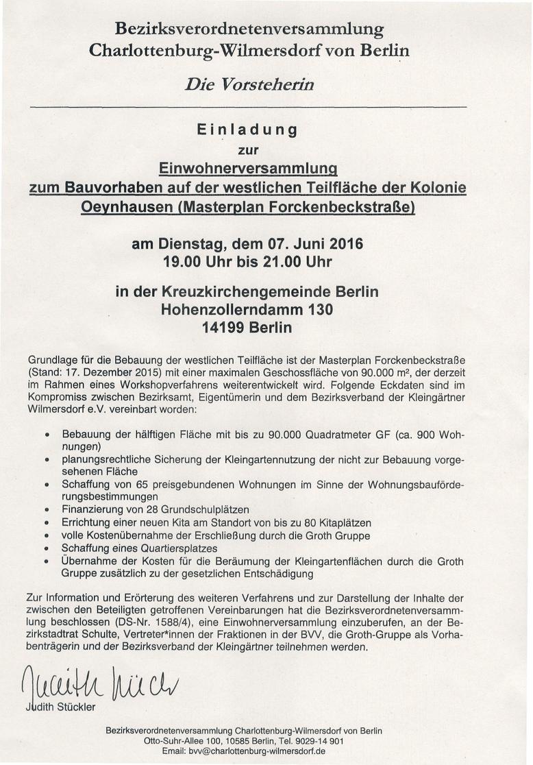 tagebuch - kleingärtnerverein oeynhausen, Einladung