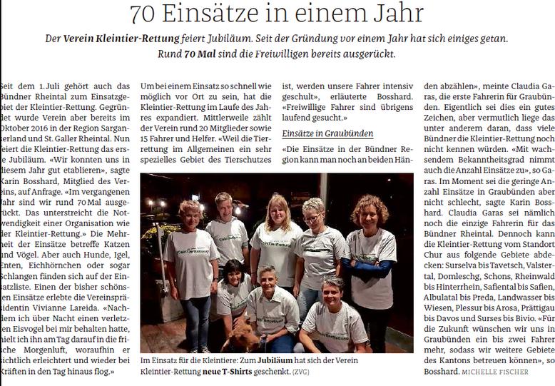 Bündner Tagblatt 23. Oktober 2017