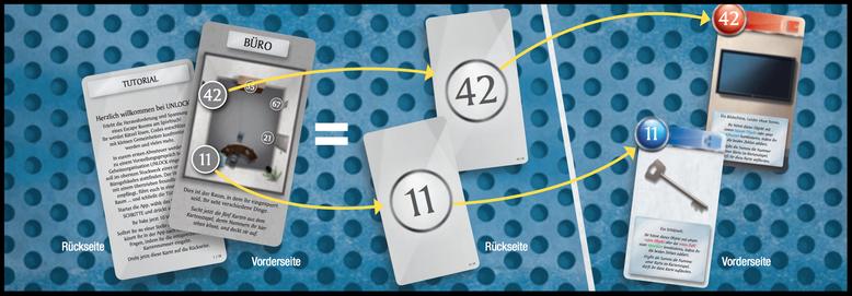 Unlock! - Karten aufdecken während des Spiels