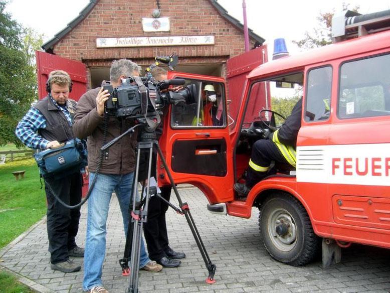 Ein Filmteam des MDR in Klinze