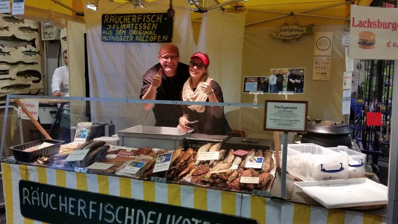 Babs Kijewski Räucherfische fischgenuss Andreas Nägler Messe Wels Fishing Festival