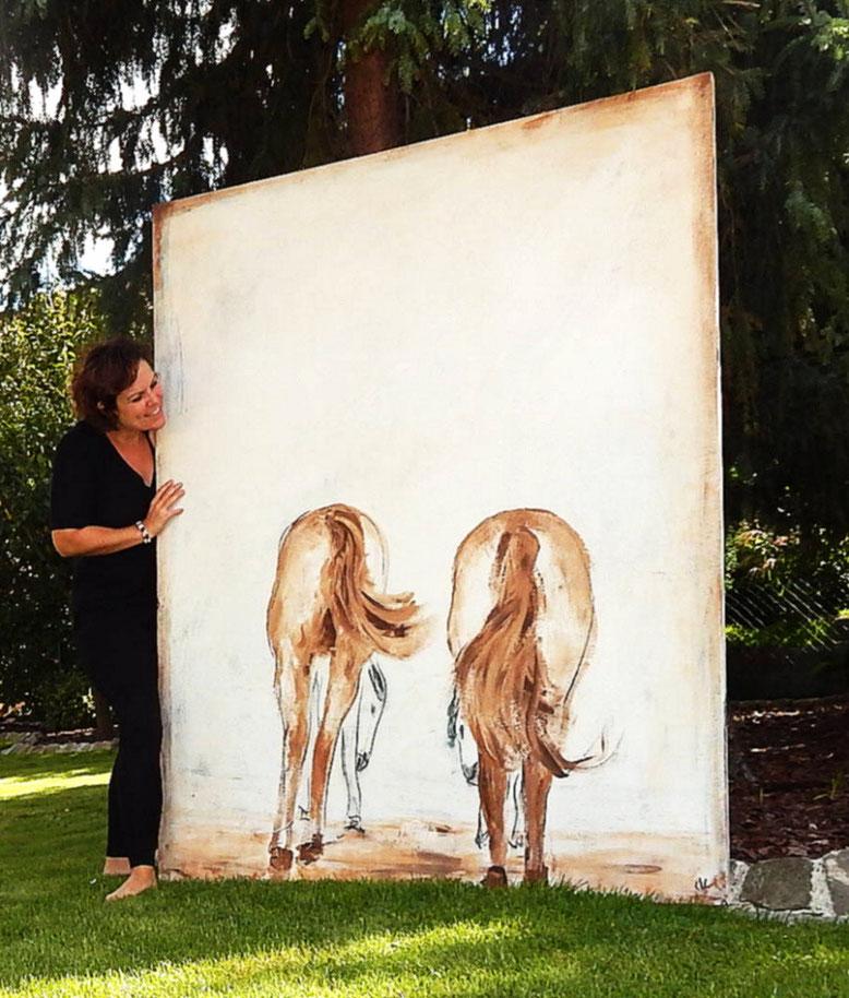 Bild Gemälde Pferd