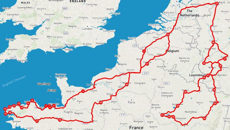 Verlauf der 3. und 4. Tour 2018, Quelle: Tripline