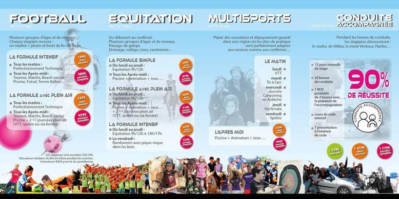 programme stage équitation SPORT GARD 2015