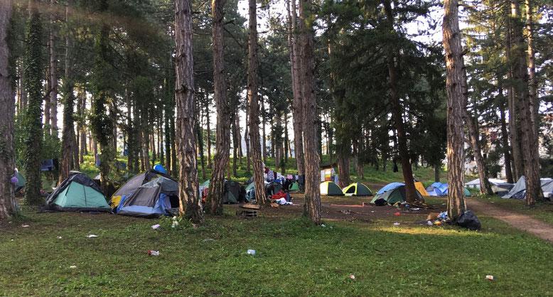 Flüchtlinge und Migranten in Bihać