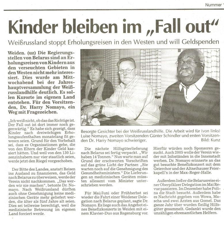 Zeitungsbericht 2005