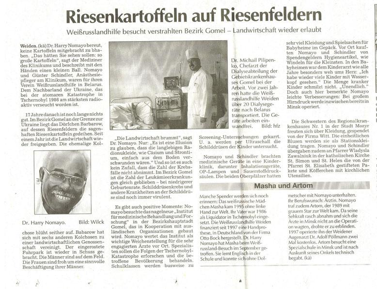 Zeitungsberichte 2003