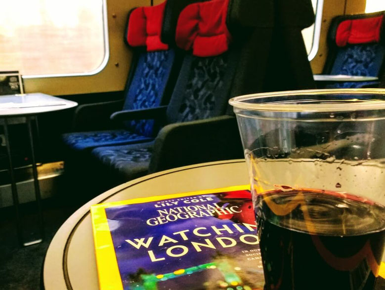 Train wine and a good read - a must :)