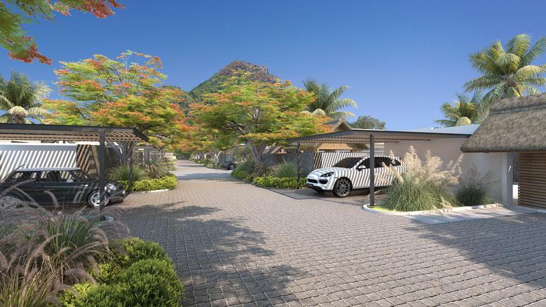 4 types de Villas contemporaines et luxueuses en 3 ou 4 chambres : - TAMARINIER, - ALOES, - LATANIER, - ACACIAS.