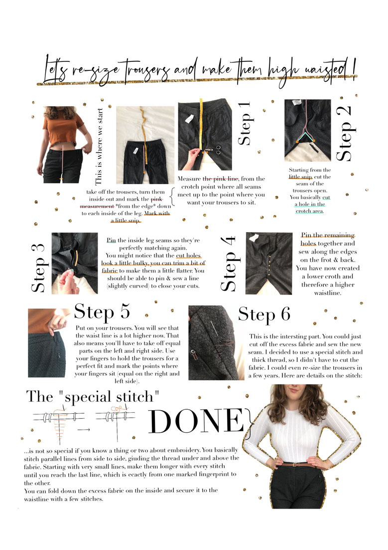 worksheet re size high waisted waist trousers pants jeans sewing hack free download