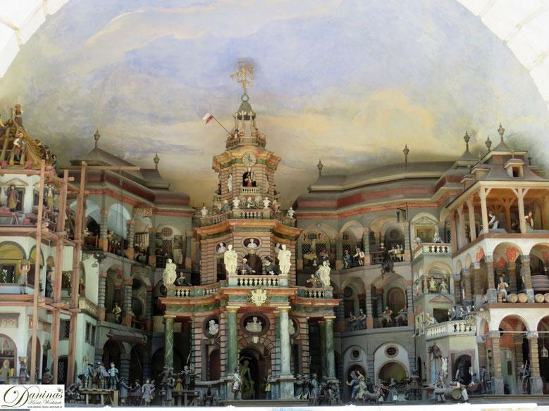 Mit Wasser betriebenes mechanisches Theater - Hellbrunner Wasserspiele in Salzburg