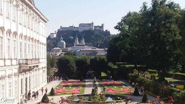 Salzburg, Festung Hohensalzburg - Blick von Mirabell.