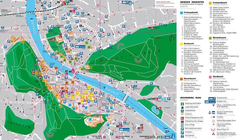 Salzburg City Map