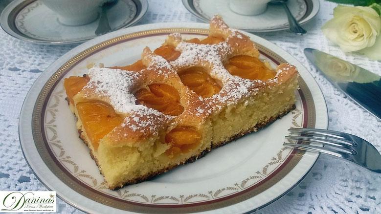 Aprikosenkuchen/Marillenkuchen Rezept - Konditor-Rezept by Daninas Dad