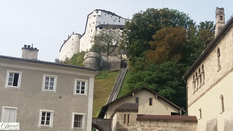 Salzburg: Alte Materialbahn von Stift Nonnberg zur Festung Hohensalzburg