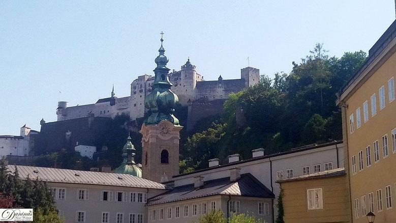 Salzburg Festung Hohensalzburg, Blick von St. Peter.