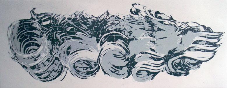 Wave  (155X60cm)  2015