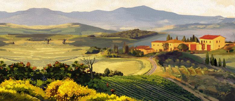 Buonconvento, Siena, Italia. Itinerari di vino. Blog Etesiaca