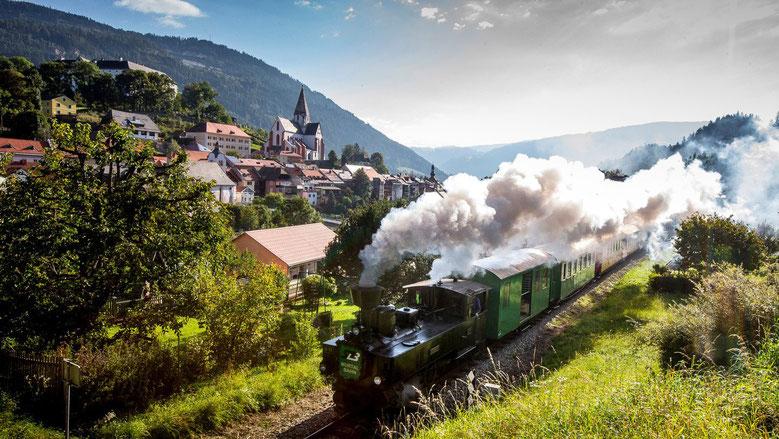 Dampflok der Murtalbahn