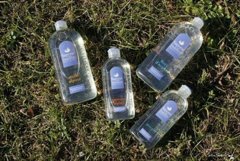 sapone delle dolomiti 2 shampoo 2 bagnodoccia