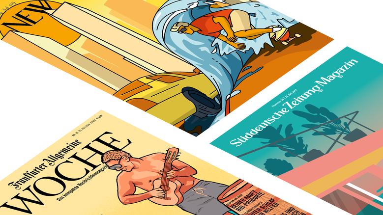 Illustrationen für Magazin Cover