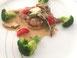 Kalbfleisch mit Pilzen auf Toast