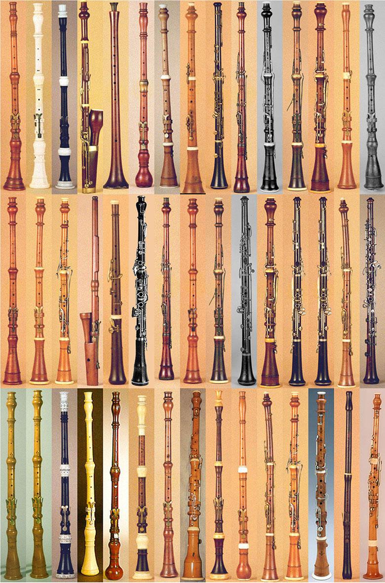 quelques hautbois de la collection du Musée de la Musique, Paris