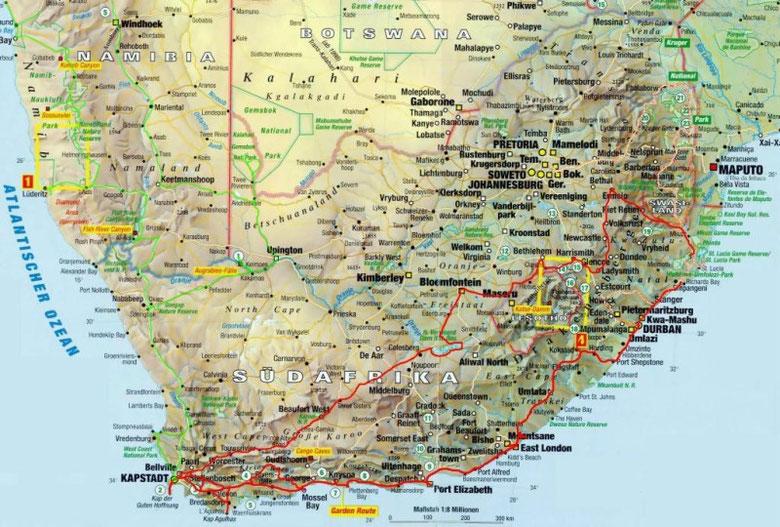 In Rot die Südafrika- Tour 2002