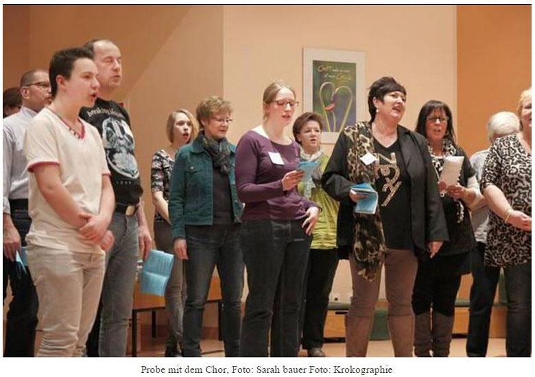 Probe mit dem Chor, Foto: Sarah bauer Foto: Krokographie