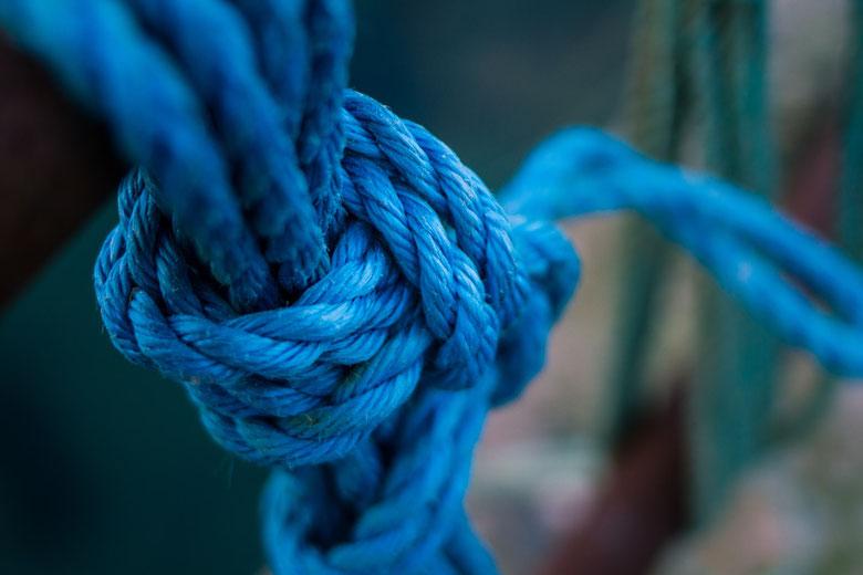 Nœud de couleur bleu