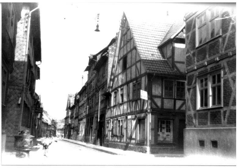 Wallgasse / Ecke Töpfergasse im Jahr 1944