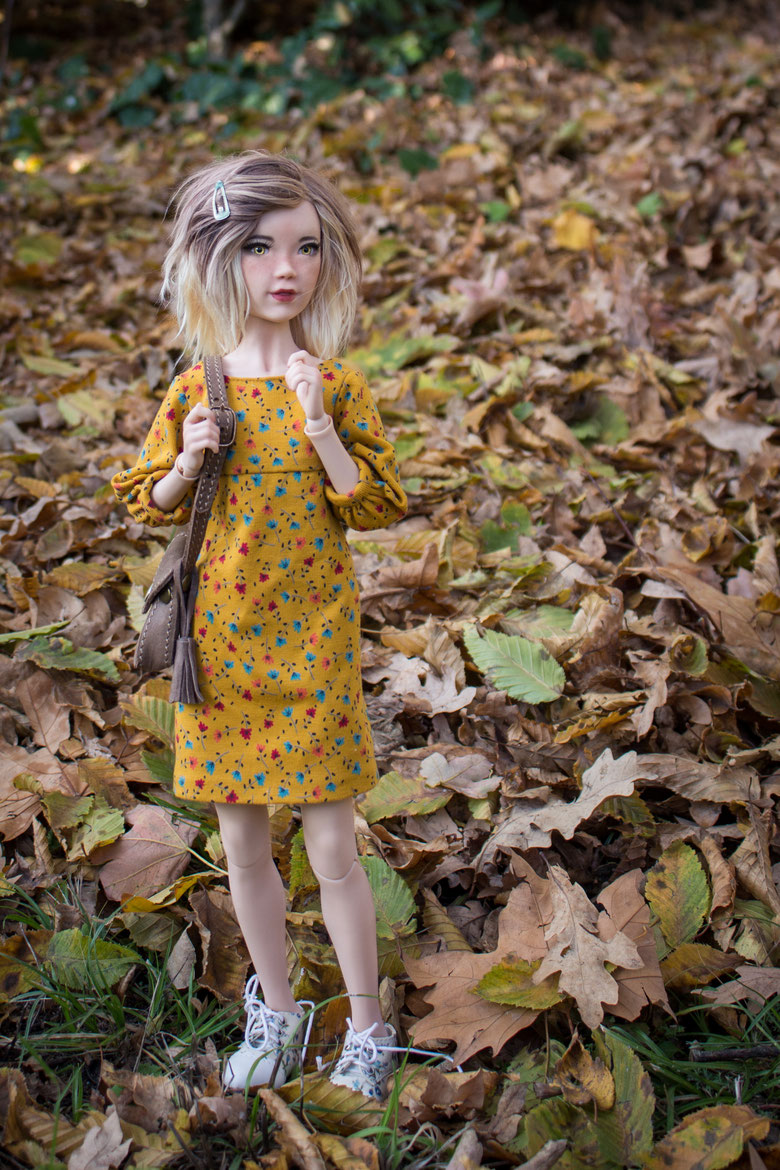 "Ema by Asphodele Art Dolls with ""The Atumn Girl"" Fullset, BJD, Artist BJD, poupée articulée"