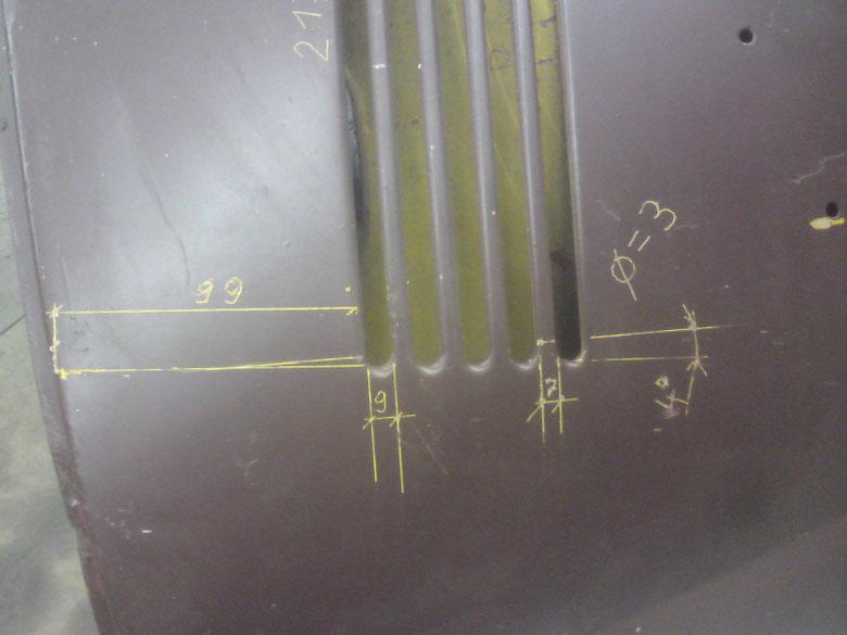 Die Gradzahl wurde am linken Paket, linke Seite von der Geraden vom oberen Schlitz aus im Rechten Winkel, gemessen zur Achse der Aussenkanten der Rundungen!