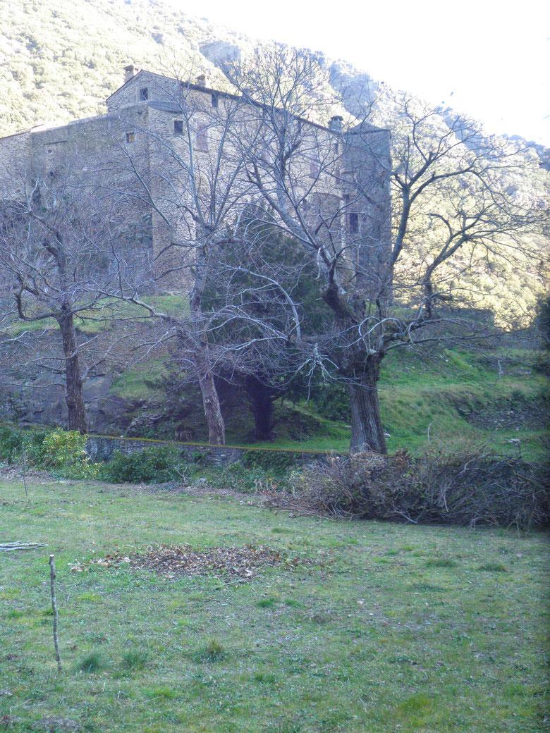 vue sur le château de Roquefère