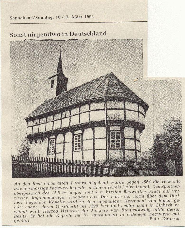"""Zeitungsausschnitt aus der """"Illustrierten Presse"""" vom 16./17. März 1968"""