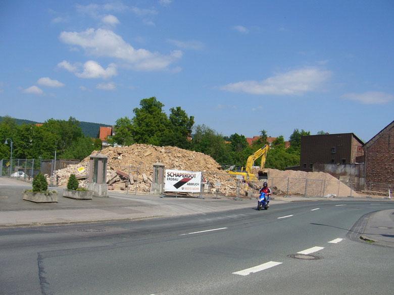 Abriss der Häuser am Steinweg