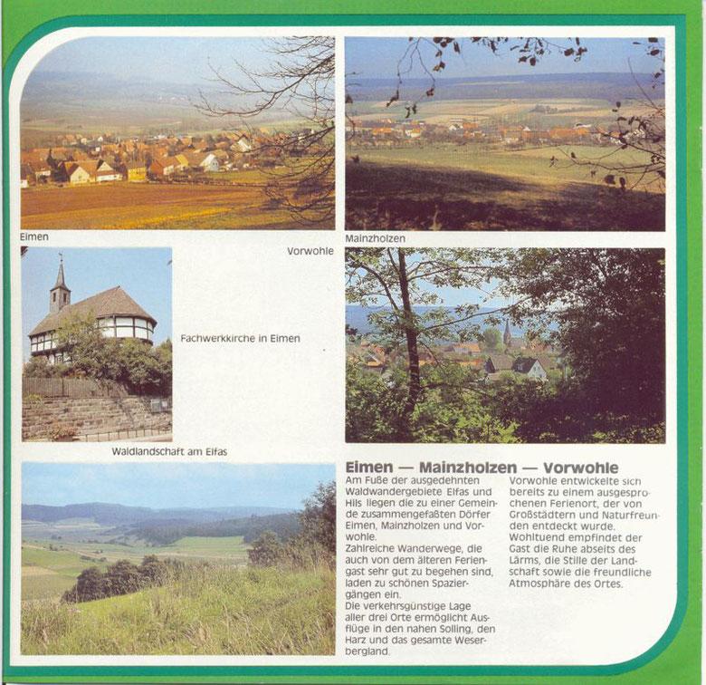 Aus dem Prospekt der Samtgemeinde Eschershausen