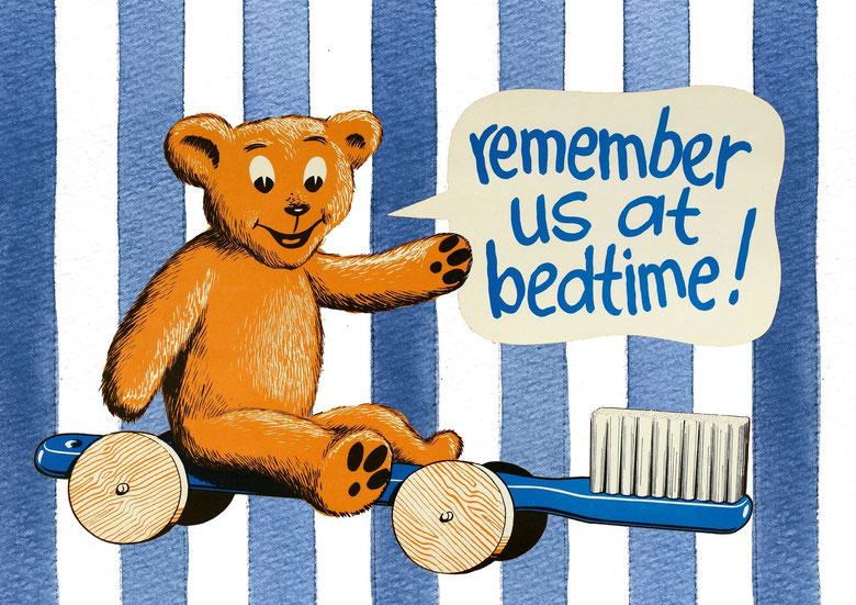 spazzolare i denti prima di andare a letto