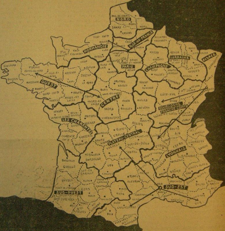 Carte du Challenge du «Matin» 1922.