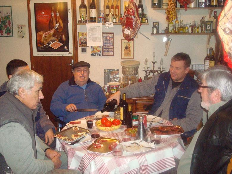 le 20 décembre 2013 casse croute chez Michel La Maison du Jambon Pata Negra de Bellota !!!