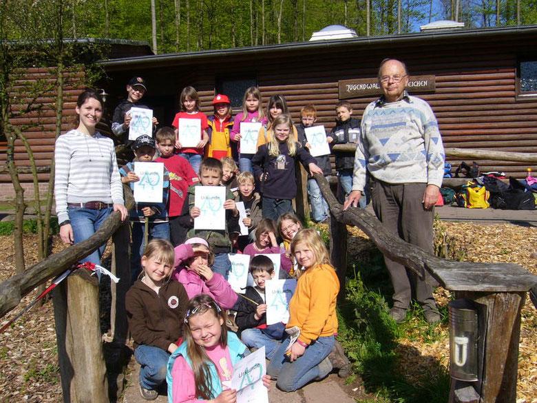 """Jugendwaldheim """"25 Eichen"""" vom 28. bis 30. April 2008"""