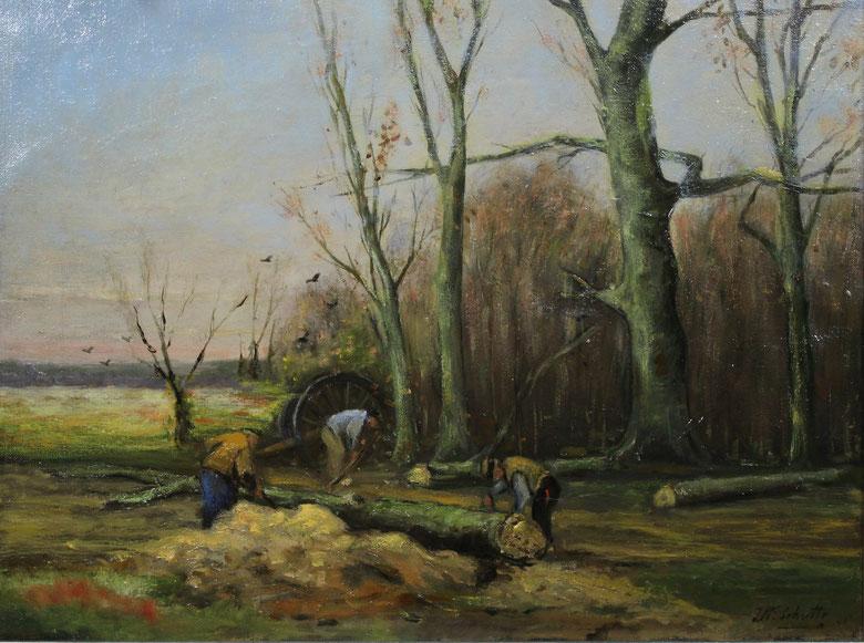 te_koop_aangeboden_een_landschapsschilderij_van_een_hollandse_school_kunstschilder_20e_eeuw