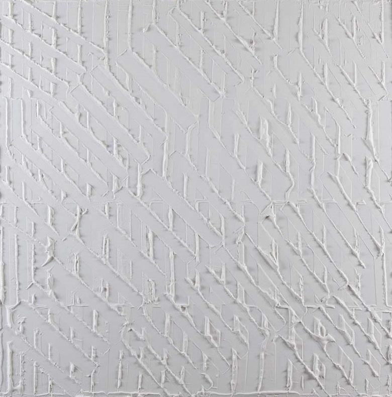 White noise 2.Acrilico su tela.100x100.2014  Collezione privata