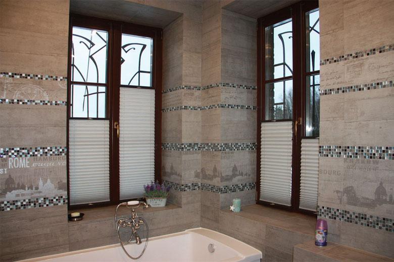 Шторы плиссе для ванной комнаты