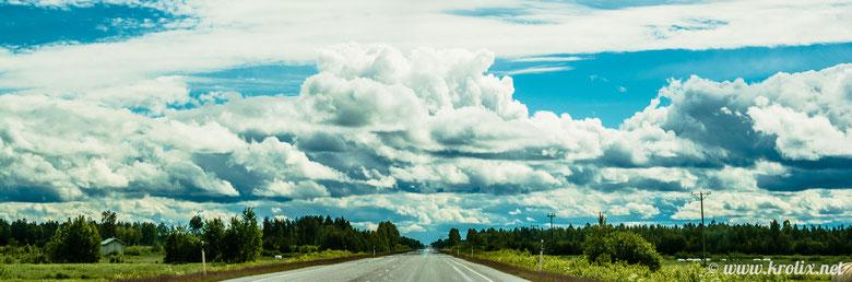 Нереально низкие облака.