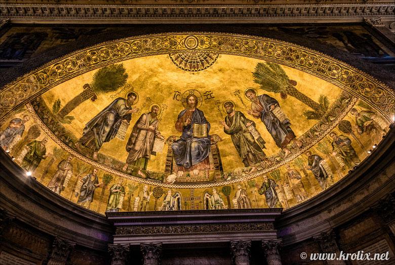 Фреска над алтарём, собор Св. Павла в Риме