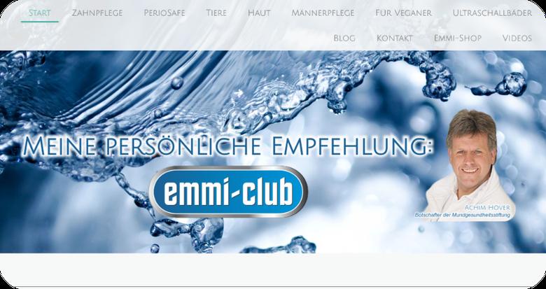 Ultraschall-Technologie für Zahnpflege mit Emmi-Dent, Emmi-Pet. Hautpflege mit Emmi-Dent