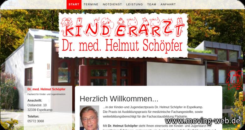 Kinderarztpraxis Espelkamp von Dr. Schöpfer jetzt mit eigener Webseite