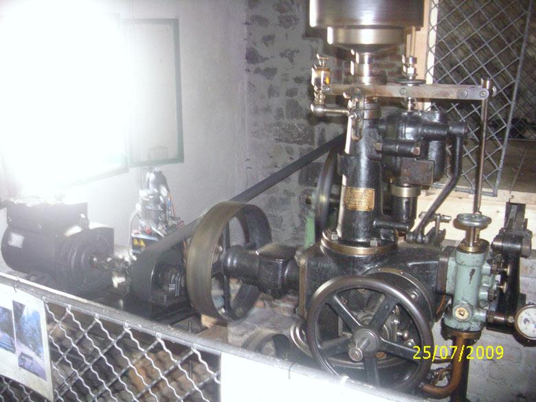 Bild von der Turbine des Wasserkraftwerkes