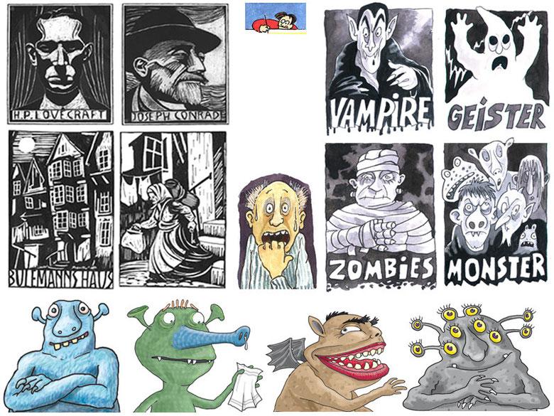 Literaten und Monster - Freie Arbeit, Christophorus, Domino
